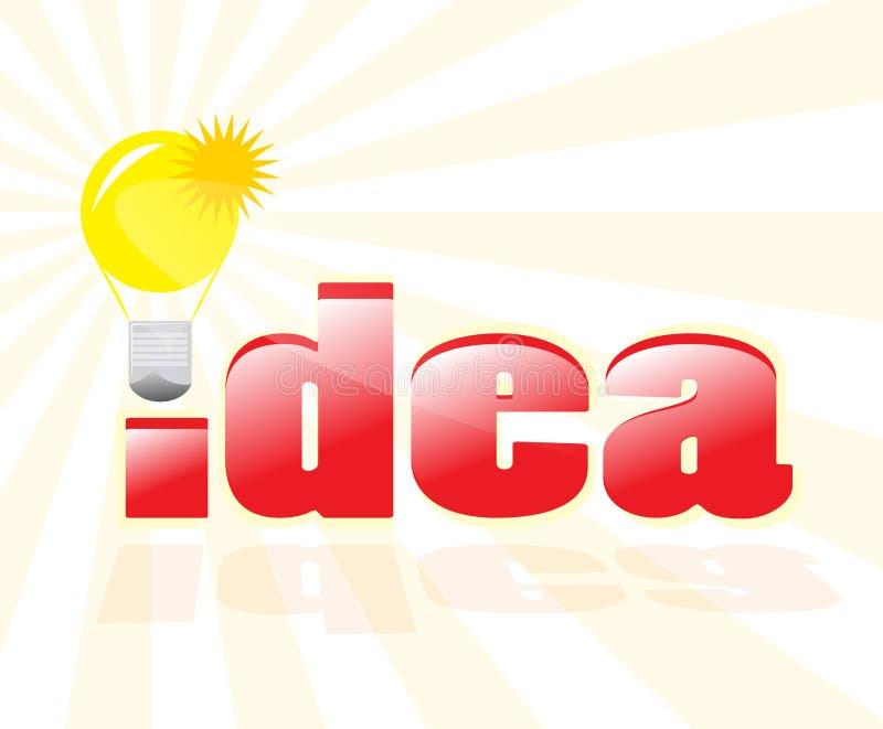 Tendo uma boa idéia! ilustração stock