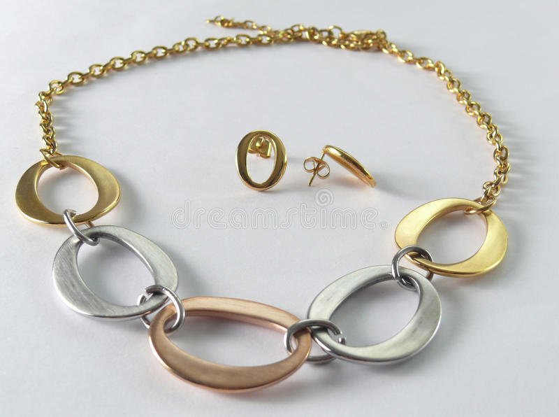 Tendrils with necklace stock image