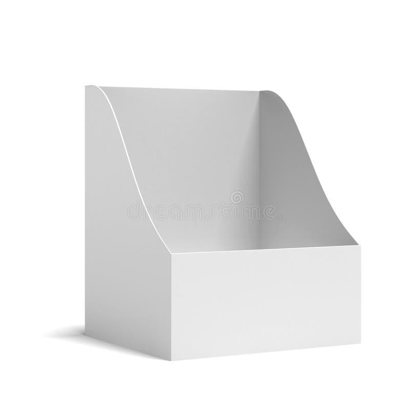 Tenedor blanco para los prospectos ilustración del vector