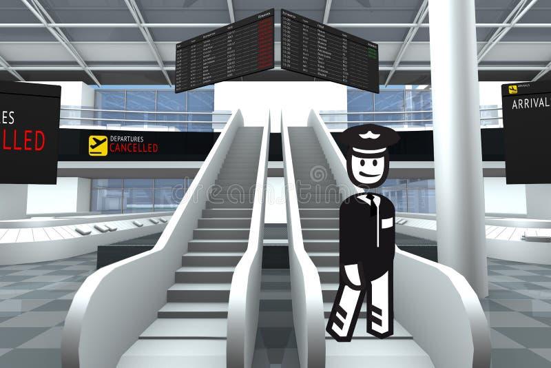 Tenedor del aeropuerto libre illustration