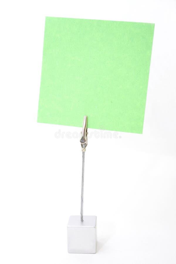 Tenedor del papel de nota foto de archivo libre de regalías