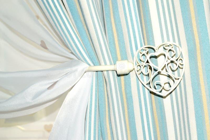 tenedor elegante lamentable de la cortina fotografía de archivo libre de regalías