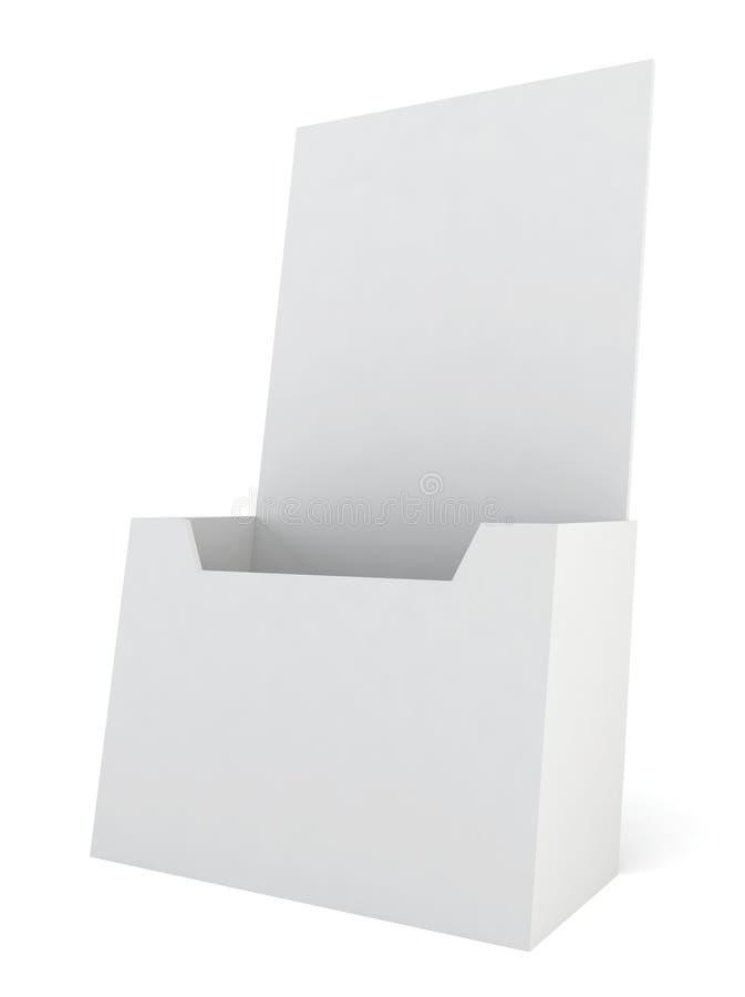 Tenedor en blanco del folleto stock de ilustración