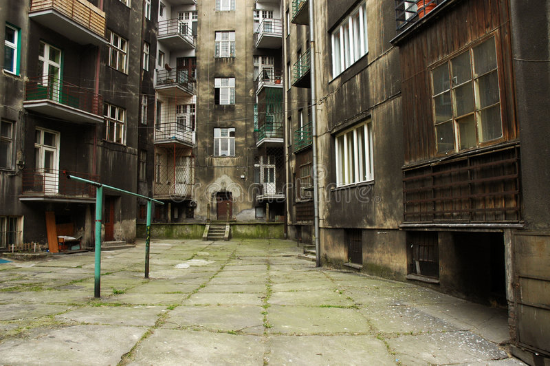 Tenement house stock photography