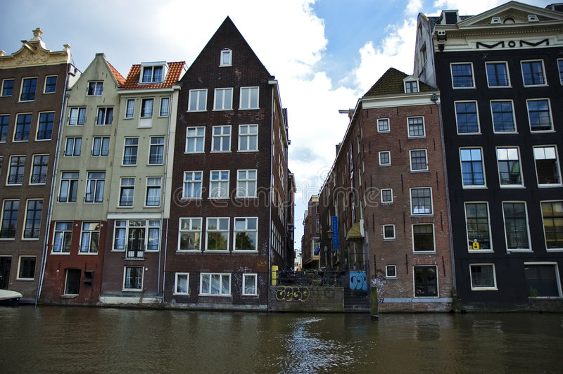 Download Tenement house stock photo. Image of water, nederland - 4431544