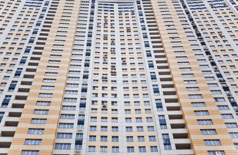 Tenement-house wiht windows, loggias royalty free stock photography