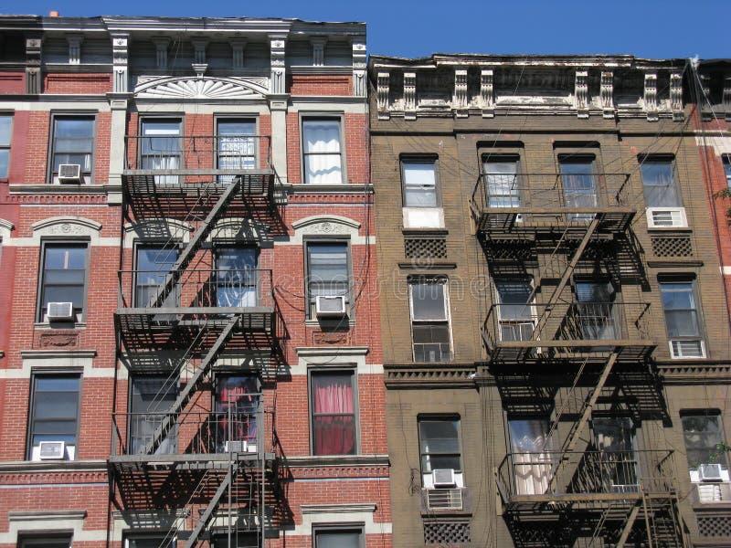 Tenement Style Apartments New York City Stock Image