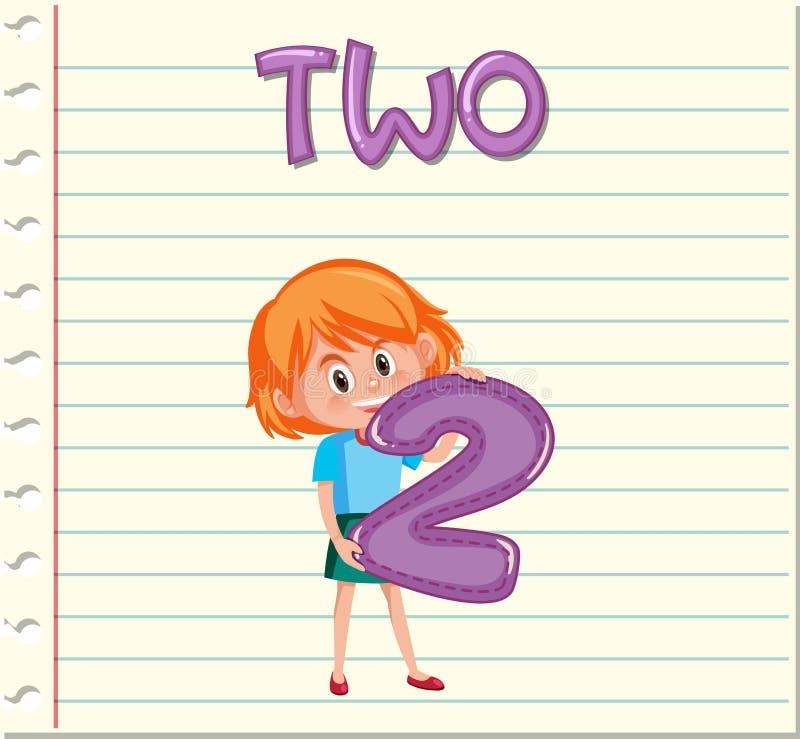 Tenencia número 2 de la muchacha stock de ilustración