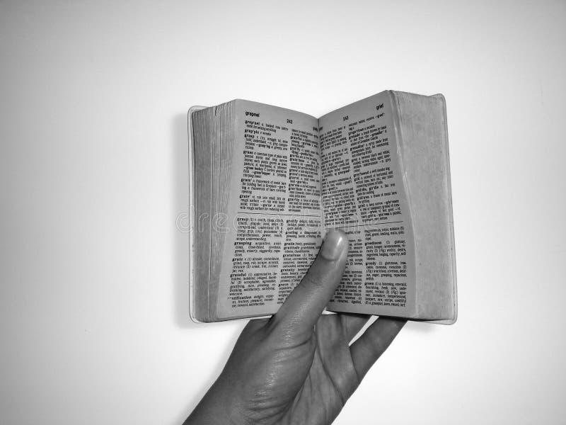 Tenendo un libro apra fotografie stock libere da diritti