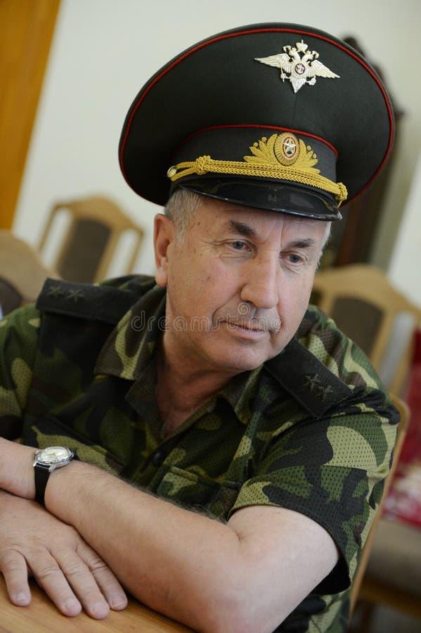 Tenente General Grigory Fomenko, comandante militar de Chechnya em 2004-2006, primeiro comandante adjunto de di Norte-caucasianos fotografia de stock