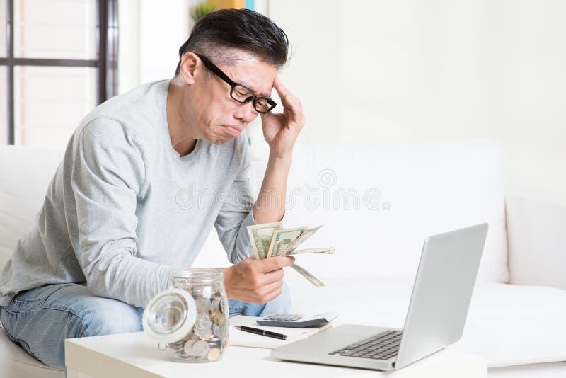 Tener problema financiero fotografía de archivo libre de regalías