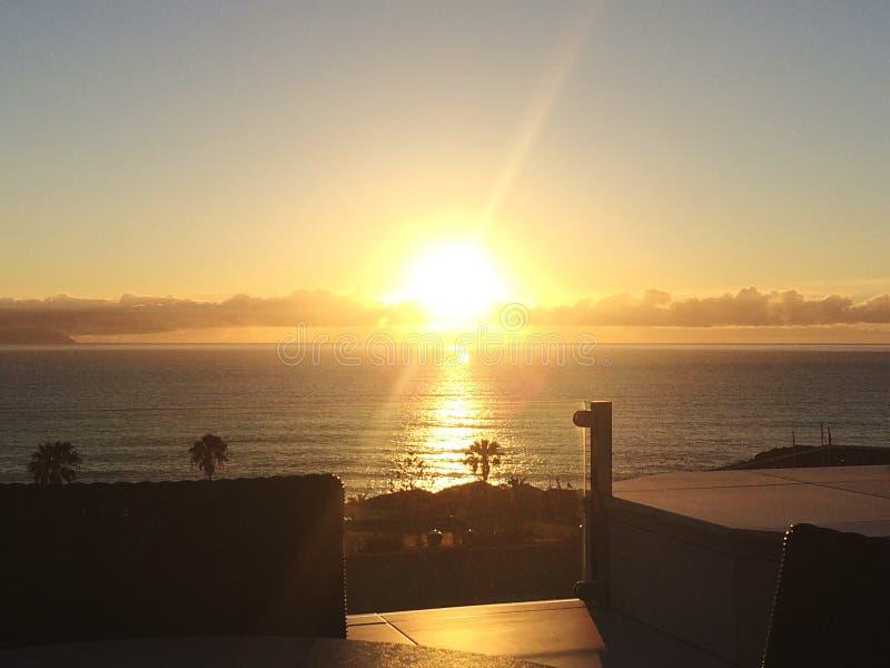 Tenerife ηλιοβασίλεμα στοκ φωτογραφία με δικαίωμα ελεύθερης χρήσης
