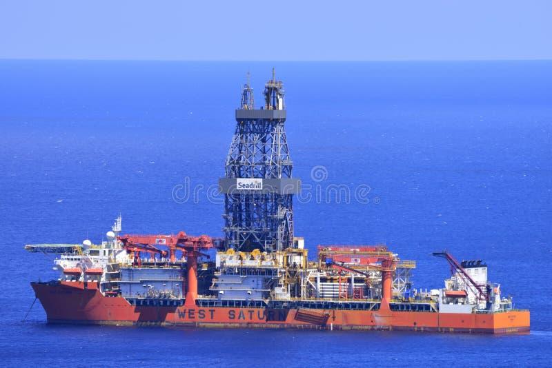 TENERIFE ΣΤΙΣ 31 ΙΟΥΛΊΟΥ: Σκάφος τρυπανιών 31 Ιουλίου 2017, Tenerife το καναρίνι είναι στοκ φωτογραφίες με δικαίωμα ελεύθερης χρήσης