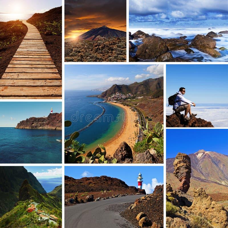 Tenerife beskådar collage royaltyfri bild