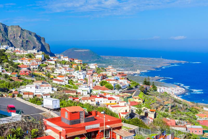 Tenerife, Canary islands, Spain: Overview of a colorful and bea. Tenerife, Canary islands, Spain: Overview ofa colorful and beautiful town on the west coast of stock images