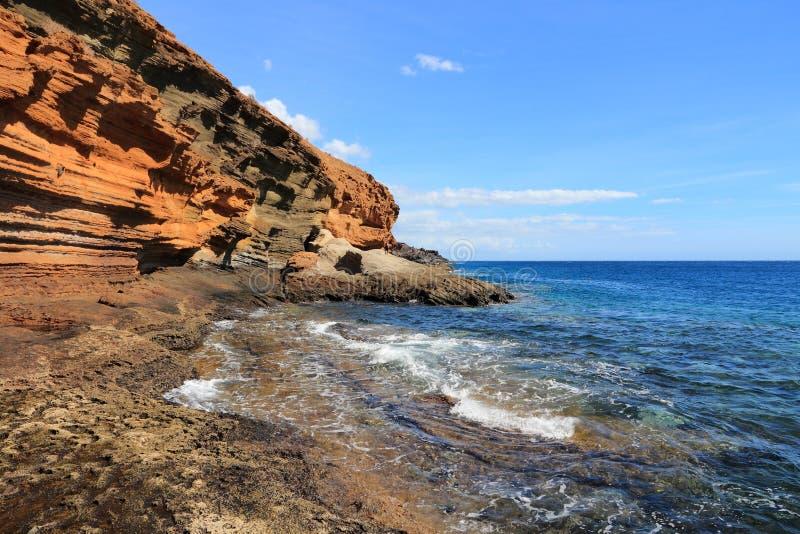 Tenerife - Costa del Silencio arkivbild