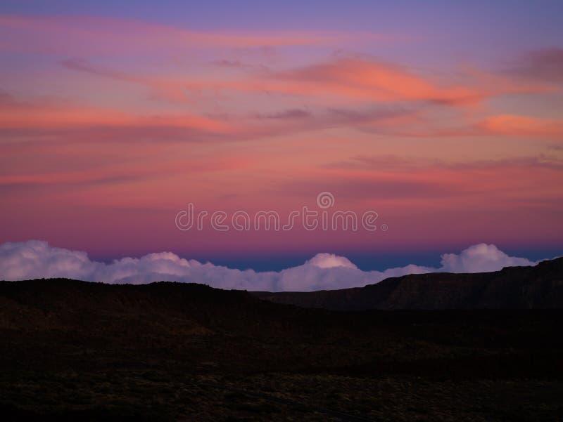 Tenerife Gloaming royalty-vrije stock fotografie