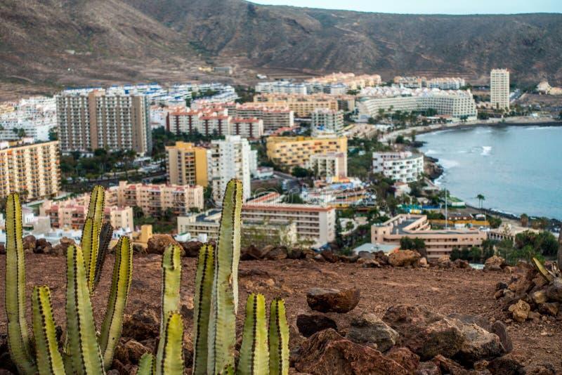 Tenerife Los Cristianos royalty-vrije stock afbeeldingen