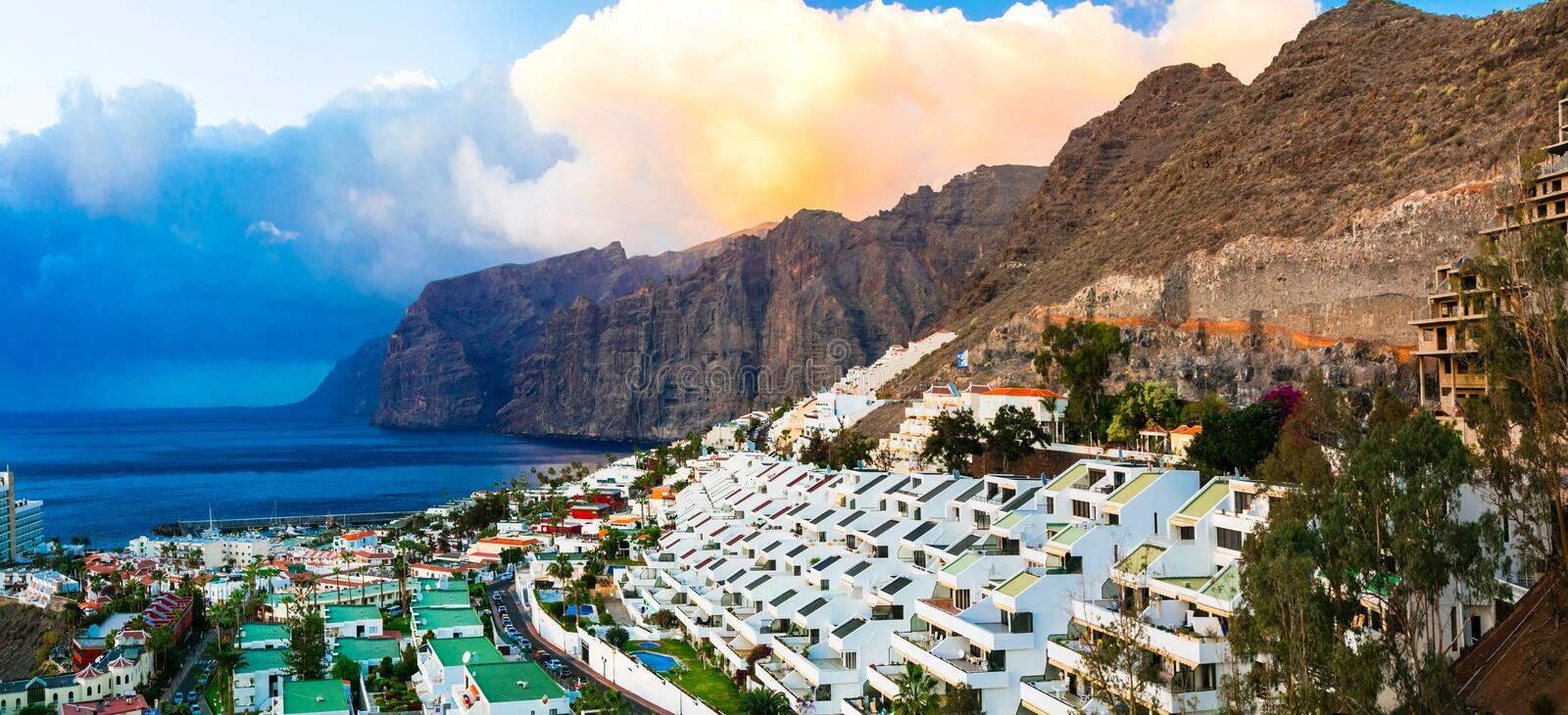 Tenerife - Los Gigantes. Canary islands stock photo