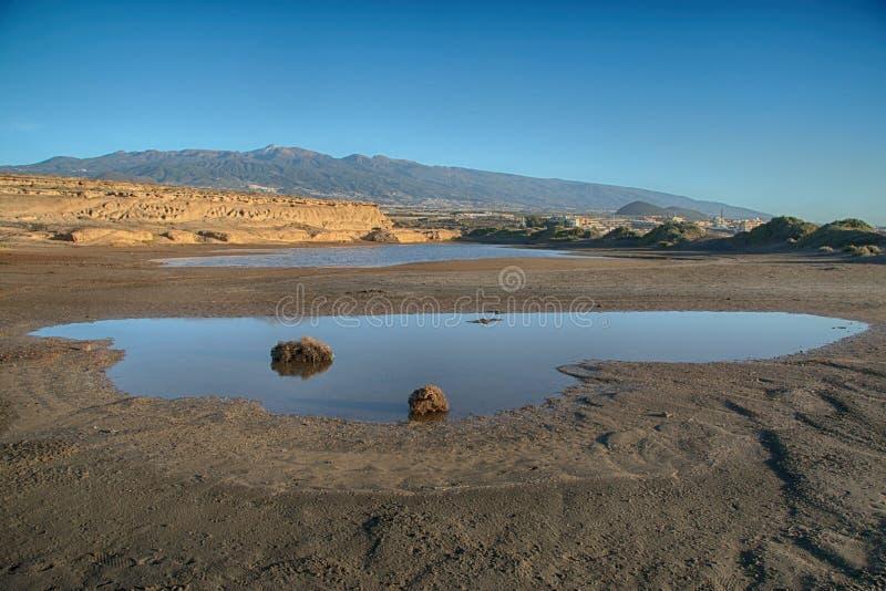Tenerife,Medano, Maria Perla Medano, inland lake stock images