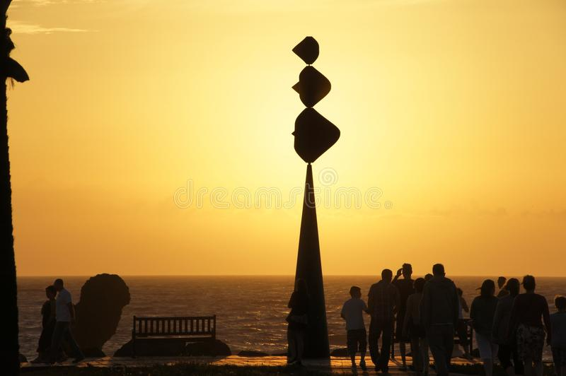 Download Tenerife Playa Las Americas Sunset Editorial Stock Image - Image: 37965174