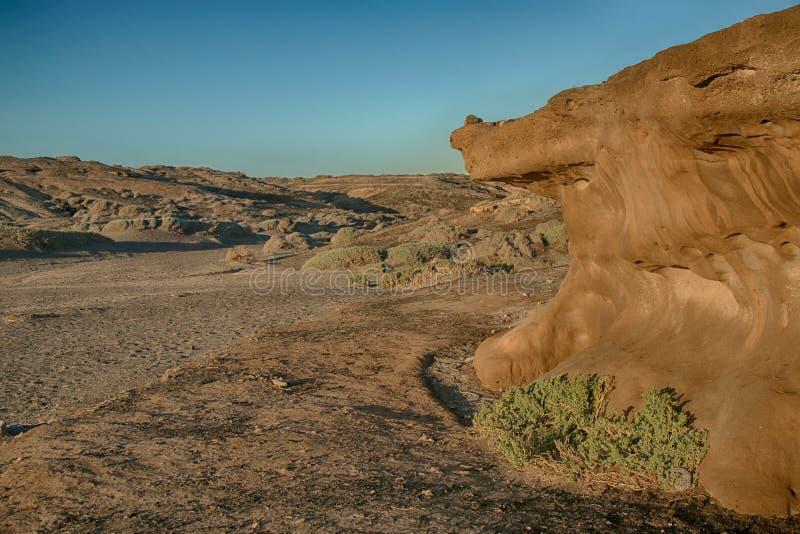 Tenerife, Powulkaniczna skała blisko Playa Colmenares, obraz royalty free