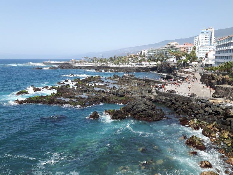 Tenerife Puerto de la Cruz fotografía de archivo libre de regalías
