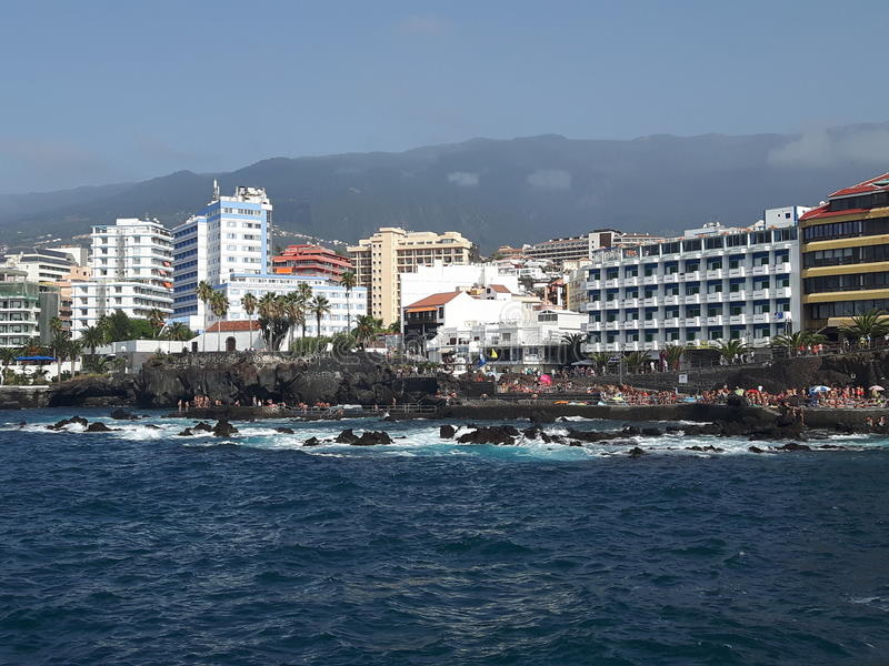 Tenerife Puerto de la Cruz imagens de stock royalty free