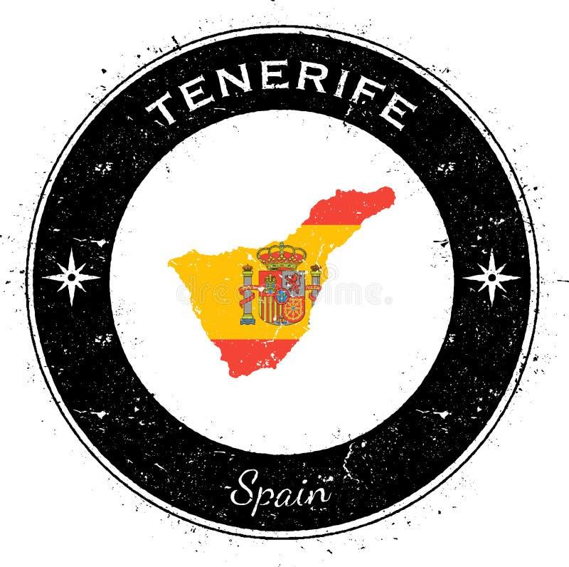 Tenerife runt patriotiskt emblem vektor illustrationer