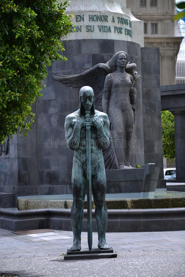 Tenerife - Santa Cruz de tenerife - memorial de guerra fotografia de stock royalty free