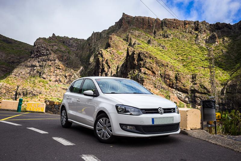TENERIFE, SPAIN - May, 2018: AutoReisen - rent a car - in Masca stock photos
