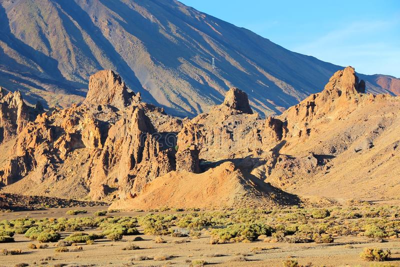 Teide. Tenerife, Spain - volcano in Teide National Park. Roques de Garcia royalty free stock photos