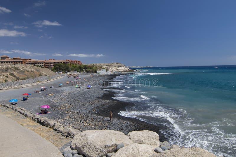 Tenerife spokojny dzień przy plażą zdjęcia stock