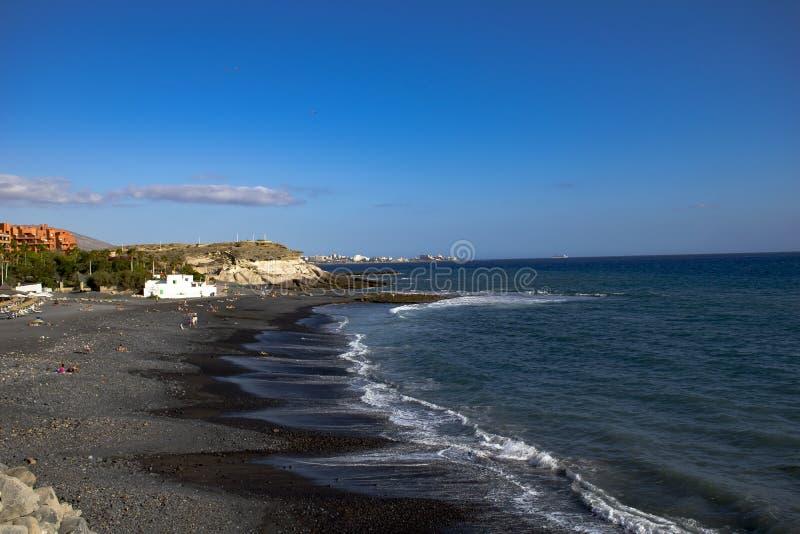 Tenerife spokojny dzień przy plażą obrazy stock