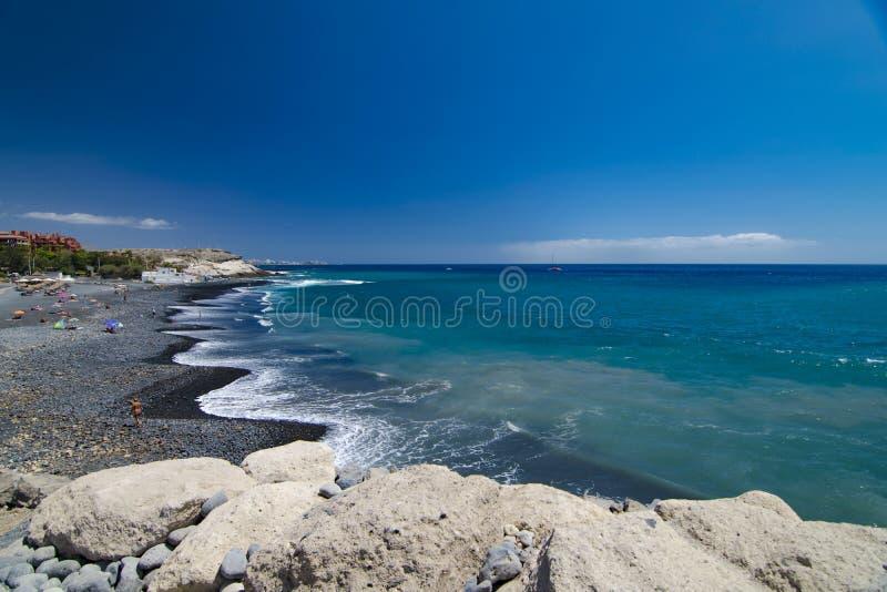 Tenerife spokojny dzień przy plażą obraz royalty free