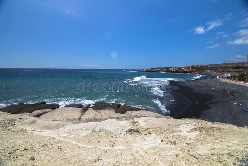 Tenerife spokojny dzień przy plażą obrazy royalty free