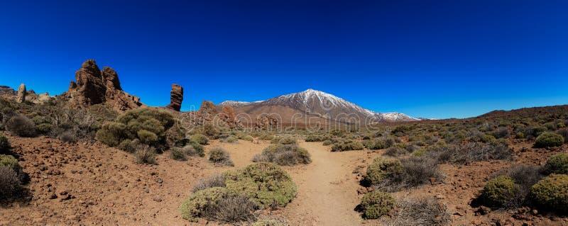 Tenerife vulkan - panorama för El Teide arkivfoton