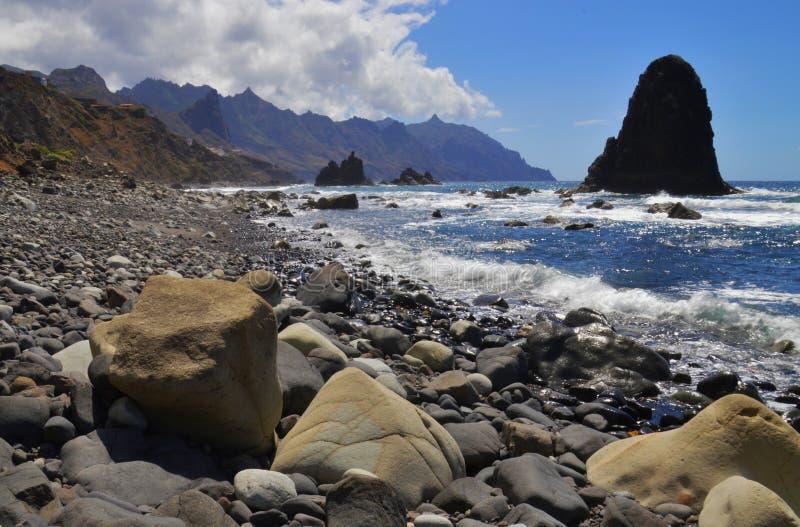Tenerife, a wild coast. stock images