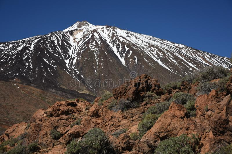 Teneryfa Insel do vulcão de Teide imagens de stock royalty free