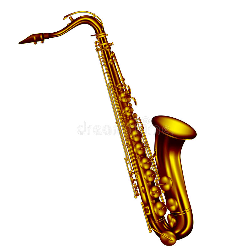 Teneursaxofoon vector illustratie
