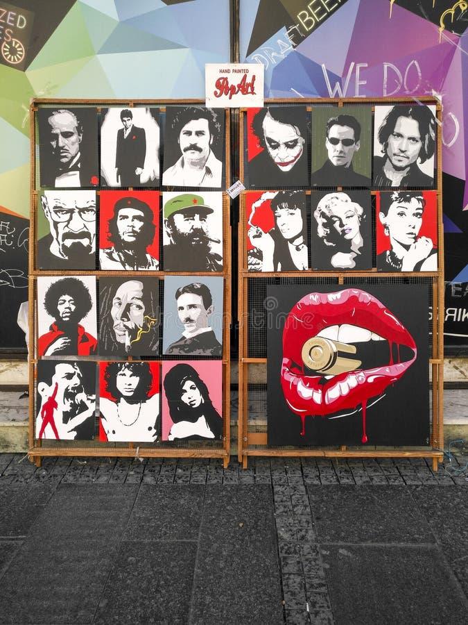 Tenez le premier rôle les photos dans la rue, à Belgrade, la Serbie image libre de droits