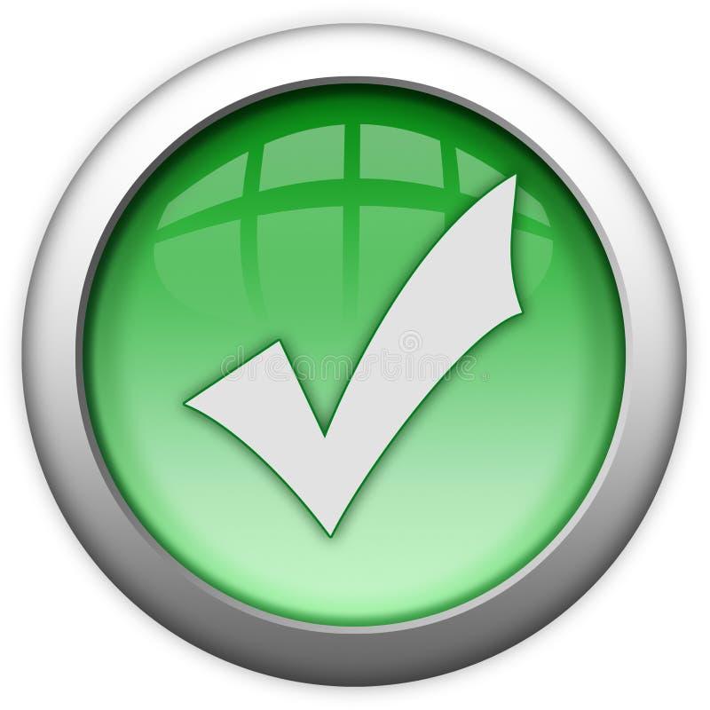 Tenga acceso al botón verde concedido stock de ilustración