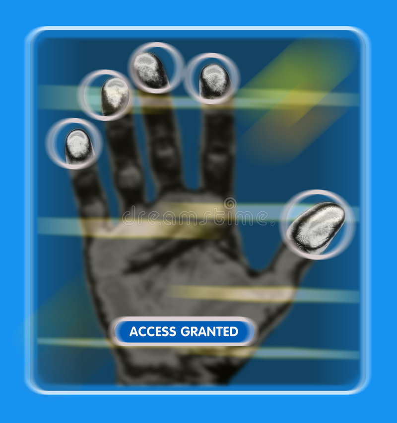 Tenga acceso concedido o negado ilustración del vector