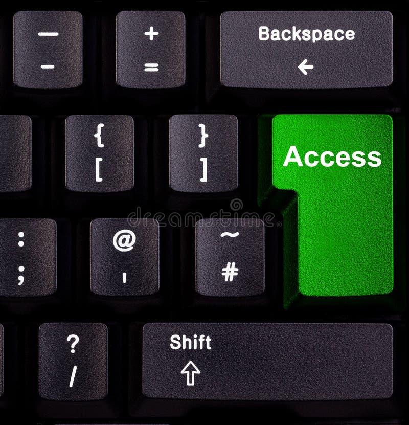 Tenga acceso en el teclado fotos de archivo libres de regalías