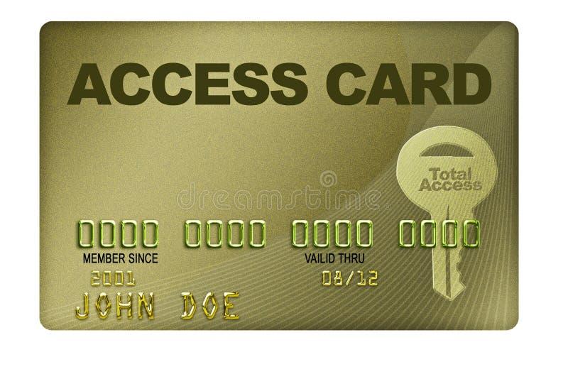 Tenga acceso a la tarjeta ilustración del vector