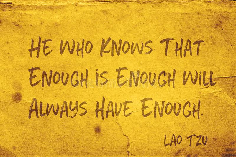 Tenga bastante Lao Tzu imagen de archivo