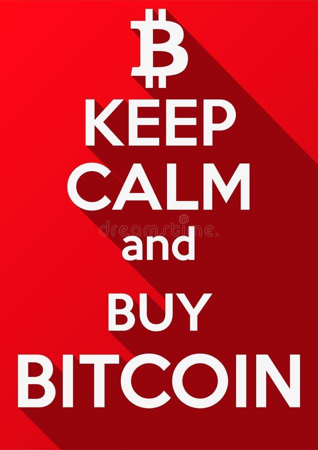 Tenga calmo e compri Bitcoin illustrazione vettoriale