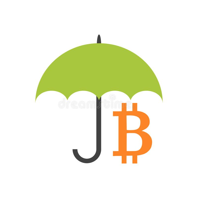 Tenga il bitcoin sicuro illustrazione vettoriale