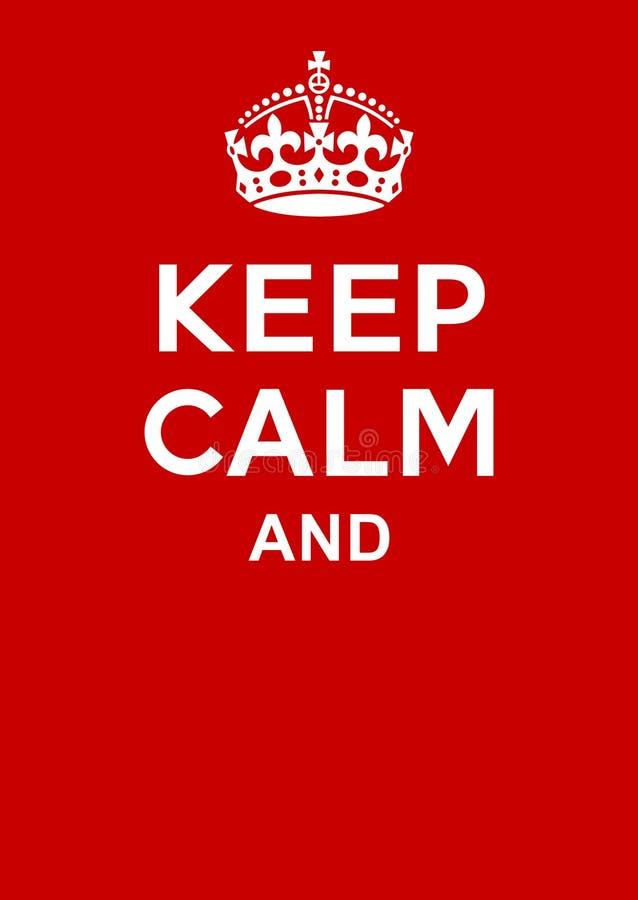 Tenga il manifesto calmo