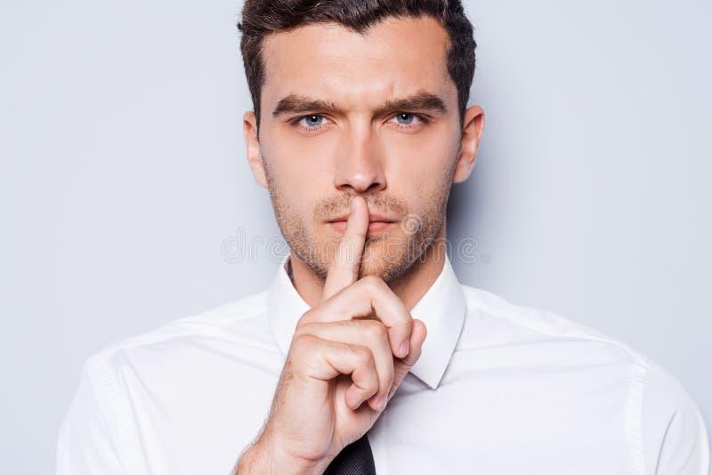 Tenga il silenzio! immagine stock libera da diritti